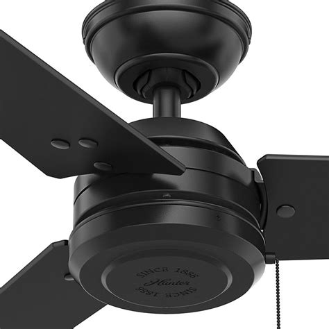 matte black ceiling fan with light hunter fan company cassius matte black ceiling fan without