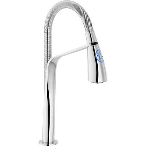 Kitchen Mixer Led by Nobili Kizoku Single Lever Mixer With Led Light Chrome