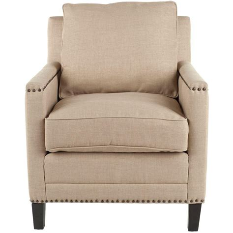 safavieh buckler wheat beige linen poly upholstered arm