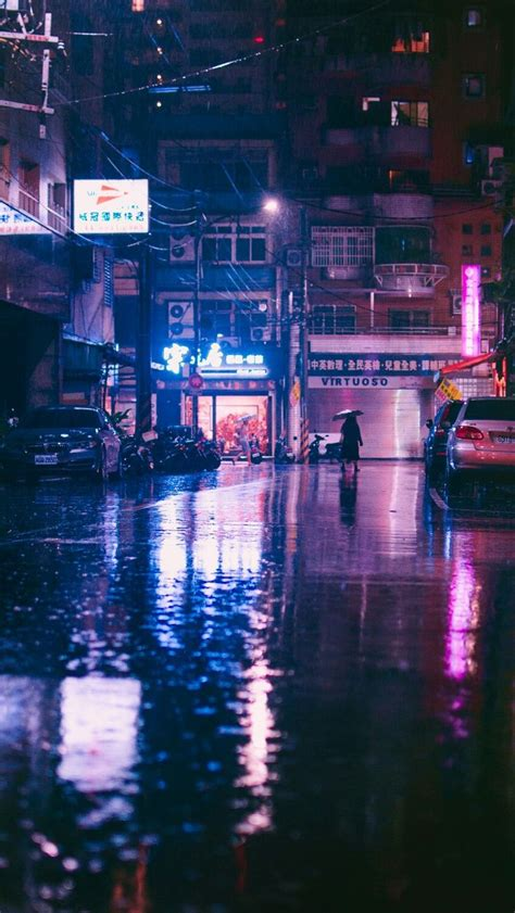 rain japan city aesthetic cyberpunk aesthetic city rain
