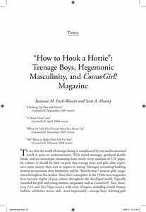 Cause And Effect College Essay How To Hook A Hottie Teenage Boys Hegemonic Masculinity