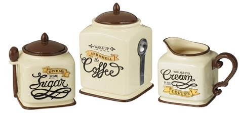 themed kitchen canisters new coffee themed canister sugar bowl creamer kitchen decor gift set ebay