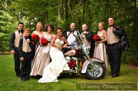 Harley Davidson With Bridal Party Www.menningphotographic