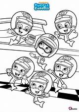 Bubble Guppies Coloring Pages Bubakids sketch template