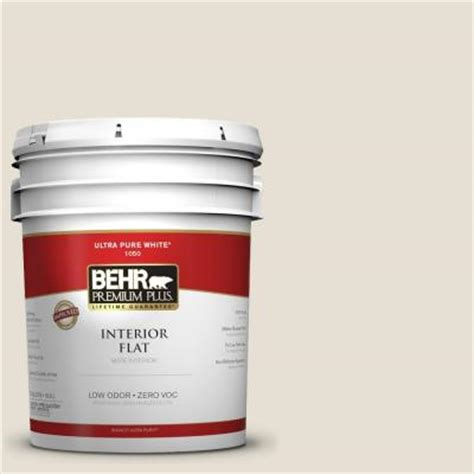home depot 5 gallon interior paint behr premium plus 5 gal 1873 off white flat interior paint 105005 the home depot