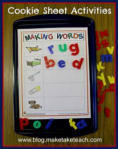 The cookie sheet challenge make take teach for Magnetic letters and words