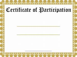 5 large blank certificates blank certificates for Free participation certificate templates for word