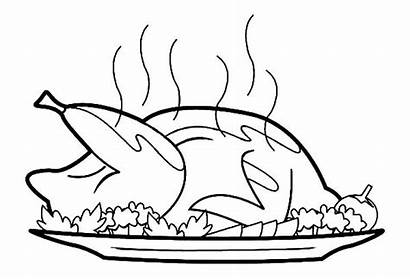 Chicken Coloring Clipart Roast Pages Roasted Drumstick