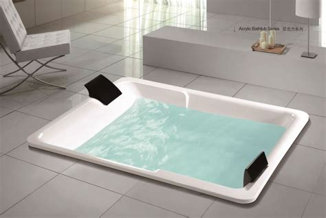 Large Drop In Tub by China Large Center Drain Acrylic Rectangle Shape