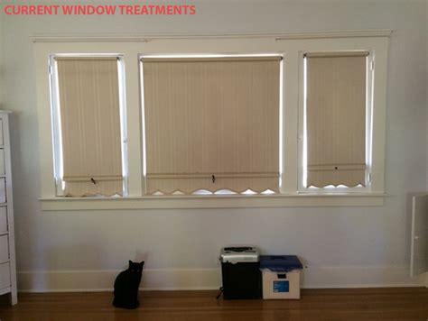 casement windows  roman shades