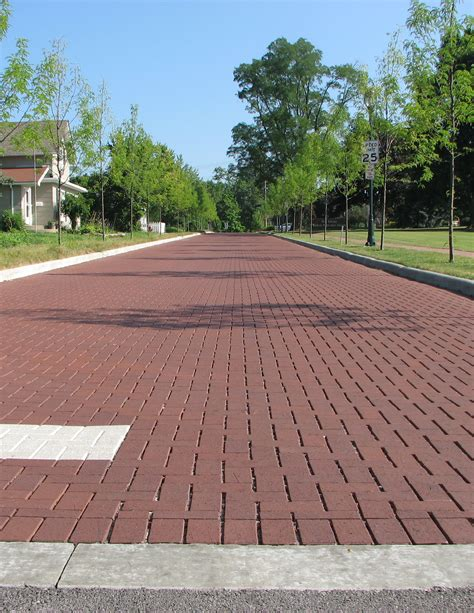 clay brick pavers price permeable clay pavers cost less than asphalt pathway cafe