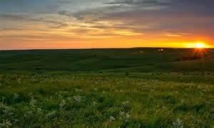 Flint Hills Kansas Sunset