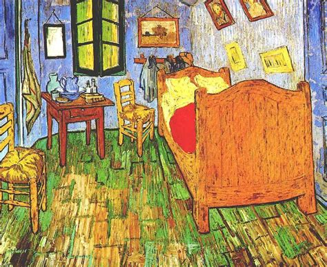 vincents bedroom  arles  van gogh oil painting