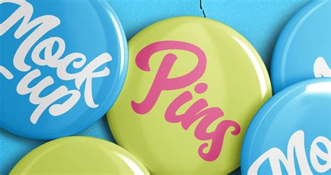 psd pin badge mockup template psd mock  templates pixeden