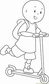 Caillou Coloring Going Coloringpages101 Cartoon Series sketch template