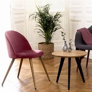 Chaise Velours Design : chaise cozy en velours rose lot de 2 choisissez les chaises cozy en velours rose lot de 2 ~ Teatrodelosmanantiales.com Idées de Décoration