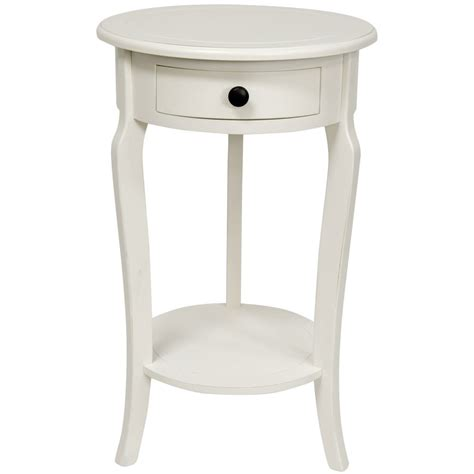 white round accent table oriental furniture 26 quot classic round end table w drawer