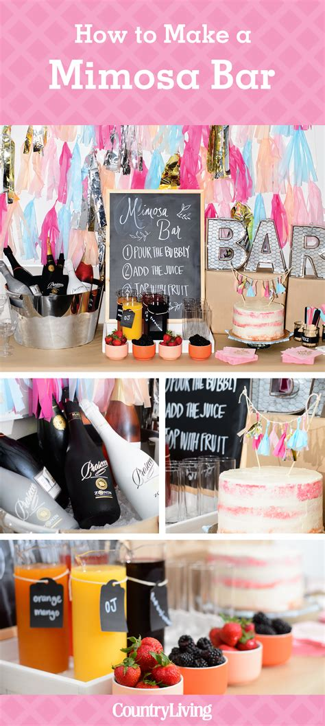 How To Make A Bar by How To Make A Mimosa Bar Bridal Shower Ideas