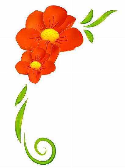 Clipart Border Floral Flowers Clipground Decor