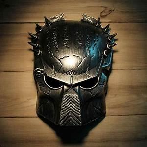 Cool Predator Masquerade Masks Halloween Props Silver Full ...