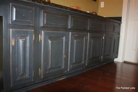 distressed gray kitchen cabinets hand painted distressed and waxed gray cabinets