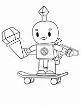 Roblox Robot Coloring Pages Printable Categories sketch template