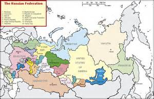 Map of Siberia Russian Federation