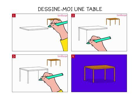 Apprendre à Dessiner Une Table En 3 étapes