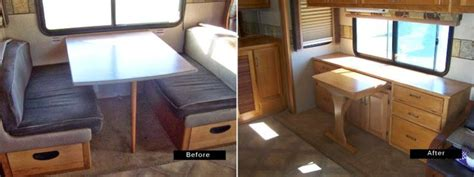 swap   rv dining table    functional credenza