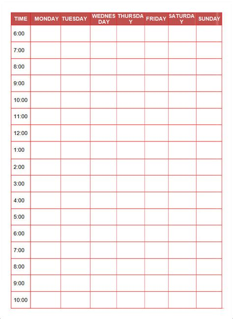 printable daily planner templates  google