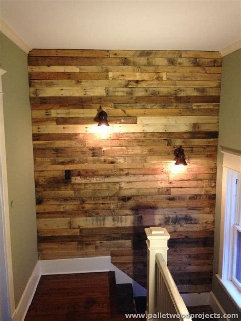 rustic wall ideas accent wall made out of pallets pallet wood projects