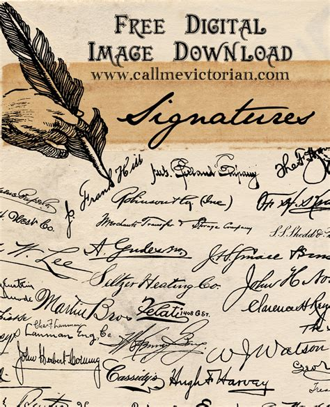 handwritten signatures  image  call