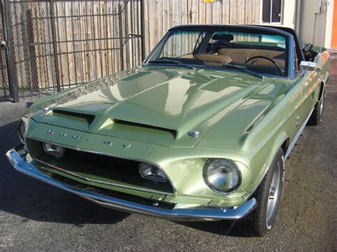 lime green  ford mustang shelby gt  convertible