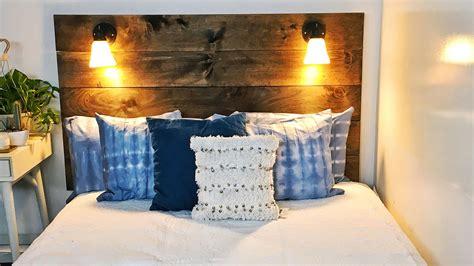 Diy Bedroom Projects Shibori Pillows Rope Rug Lamp