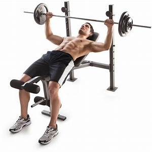 Golds Gym Bench Press Weights Lifting Barbell Exercise ...