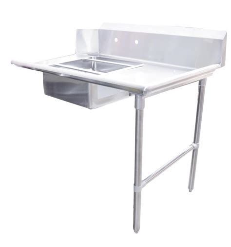 side soiled dish table  sink omcan