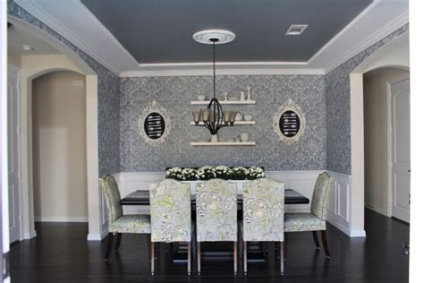 Dining Room Redo Using The Kerry Damask Stencil