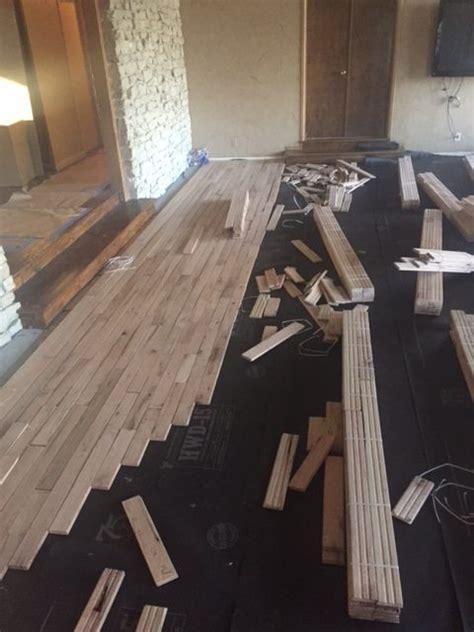 Hand Scraped Hardwood Floor Installation