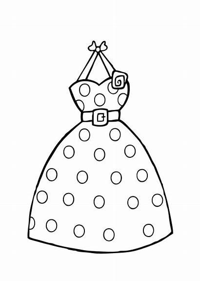 Coloring Printable Dot Polka Colorir Vestidos Drawing
