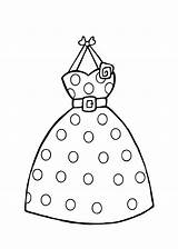 Coloring Pages Printable Clothing Colouring Dresses Dot Polka Clothes Clipart Barbie Sheets Dots Template Summer Templates Princess Stores 4kids Clip sketch template