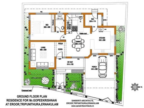 kerala house plans with estimate for a 2900 sq ft home design
