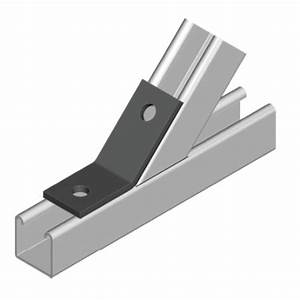 unistrut type l angle and wing brackets With unistrut floor mount