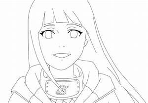 Hinata Hyuga Shippuden Drawings Sketch Coloring Page