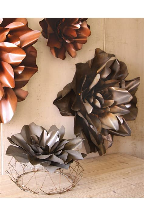 Living Room Set Under 500 by Raw Metal Flower Wall Hangings Flower Sculpture Metal