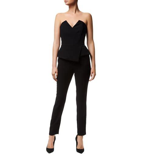 reiss jumpsuit reiss dillion bustier jumpsuit in black lyst