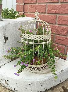 Bird Cage Flower Planter By Amanda Formaro  Crafts By
