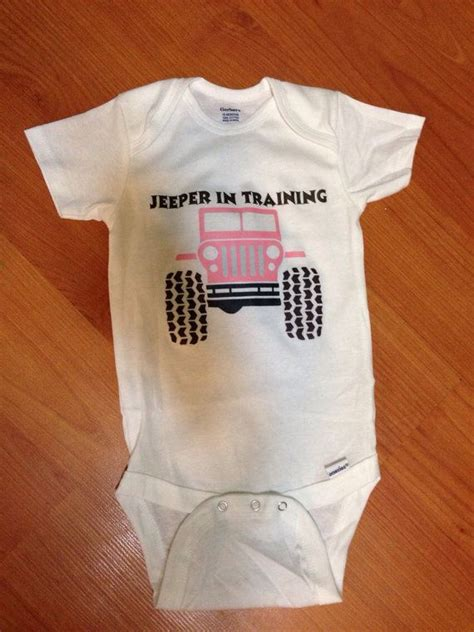 jeep baby jeep baby onesie jeeper in training by jdbabytique on