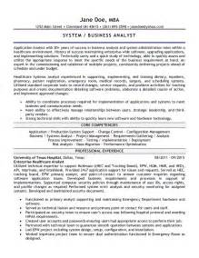 Application Support Analyst Resume by Application Analyst Resume