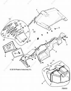 Polaris Side By Side 2016 Oem Parts Diagram For Body  Dash And Glovebox