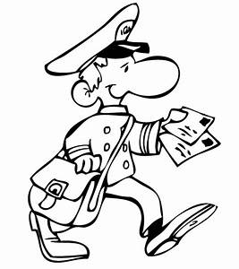 Free coloring pages of postman